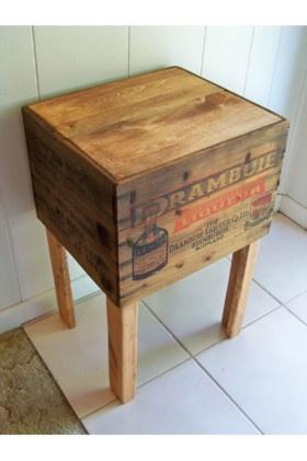 Shipping crate table Drambuie Liqueur Co. Ltd. Edinburgh, Scotland ...