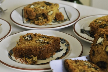 Carrot Cake, from Choclate and zucchini - it has cornmeal in it ...