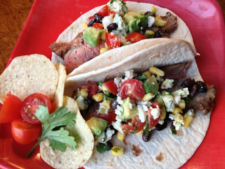 Steak Soft Tacos with blue cheese salsa | Great Food Ideas | Pinterest