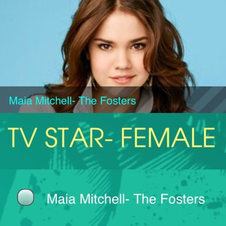 VOTE FOR MAIA MITCHEL FOR THE 2013 TEEN CHOICE AWARDS!!!!! #TCA