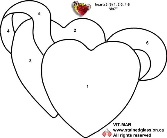 valentines stained glass coloring pages - photo#2