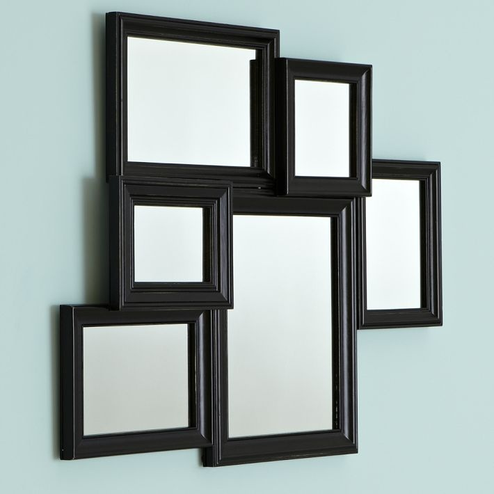 Black vintage collage framed mirror for the home pinterest for Mirror collage wall