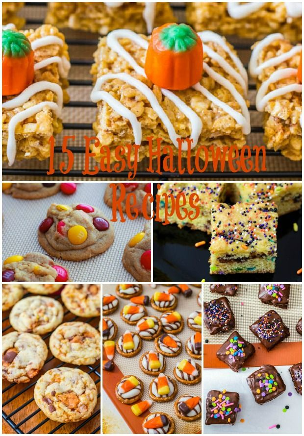 15 easy halloween recipes for Halloween desserts recipes with pictures