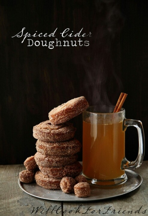 Spiced Cider Doughnuts | FOOD PHOTOGRAPHY - SWEET TOOTH | Pinterest