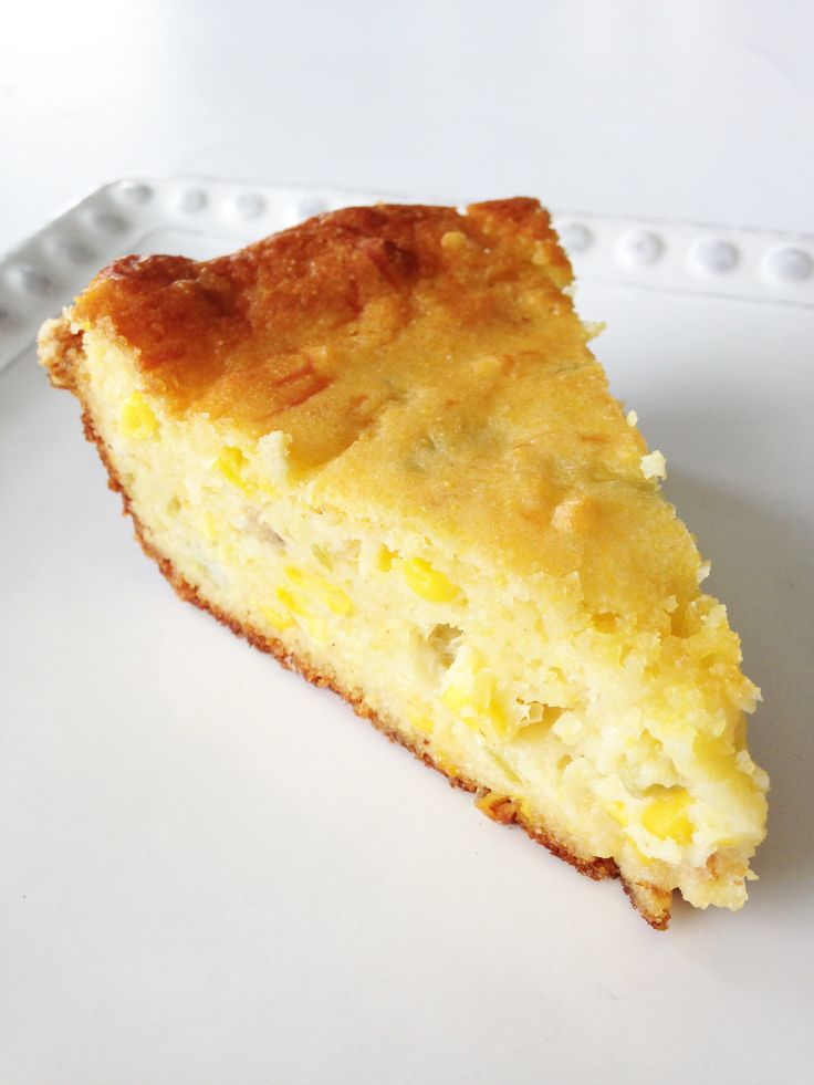 Green Chile & Cheddar Corn Casserole | Recipes to try | Pinterest