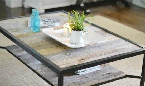 Industrial style coffee table home and diy pinterest