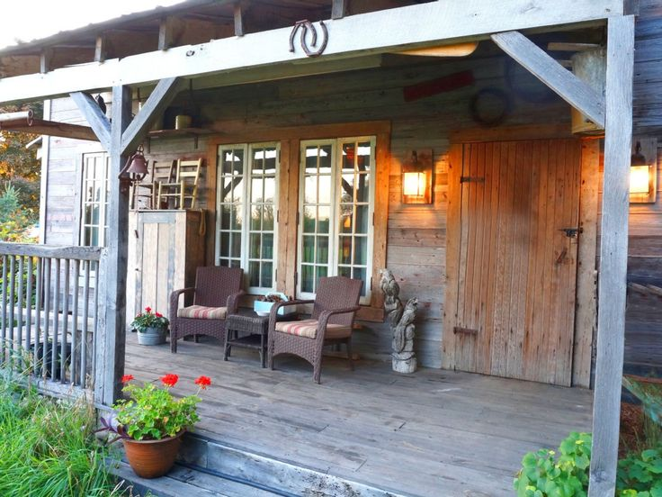 Rustic front porch for the home pinterest for Rustic front porch