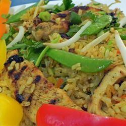 Garlic Chicken Fried Brown Rice | Recipe