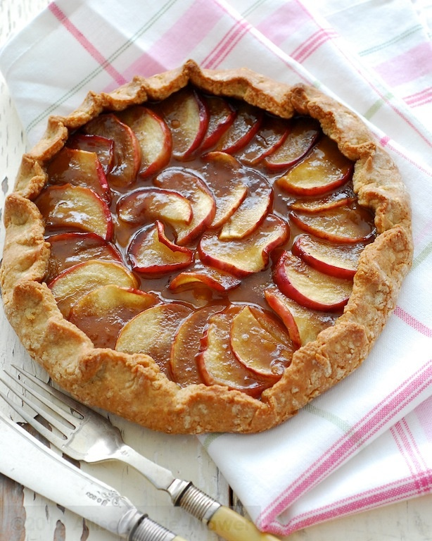 Caramel Apple Olive Oil Pastry Galette   Pies, Tarts & Cobblers   Pin ...