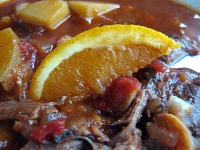 ... Stewed With Oranges, Red Wine, Chickpeas & Potatoes | The Spiced Life