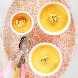 Cardamom & Orange Blossom water Custard with Pistachio.