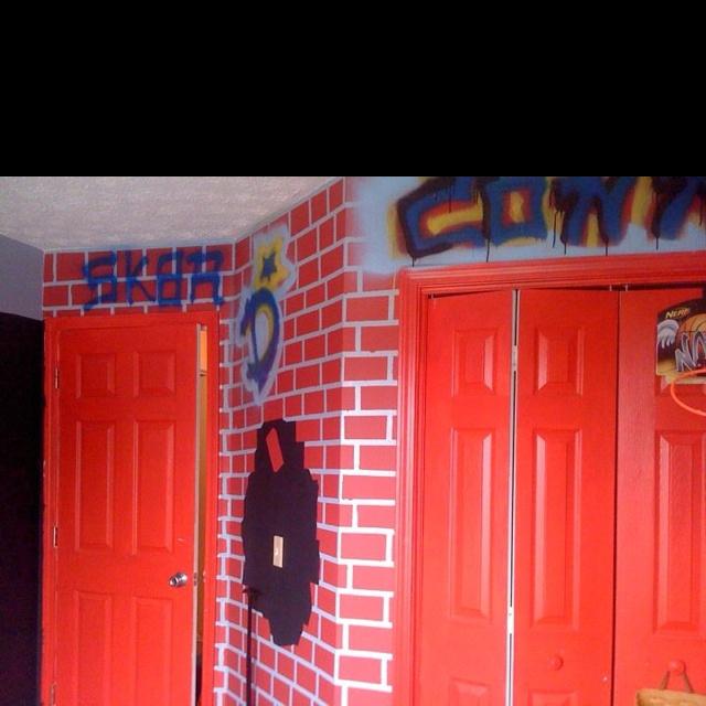 Skateboard theme bedroom completed pinterest - Skateboard themed bedroom ...