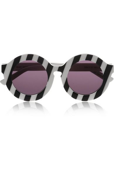 Shop now: Peggy striped round-frame acetate sunglasses