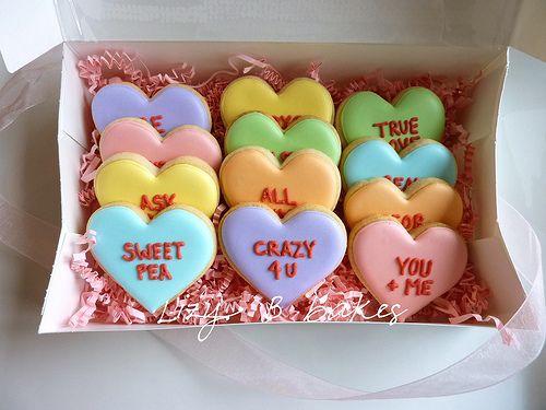 Conversation Heart Cookies | Shana | Pinterest