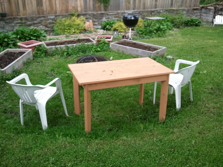wikiHow to Build a Small Cedar Picnic Table -- via wikiHow.com