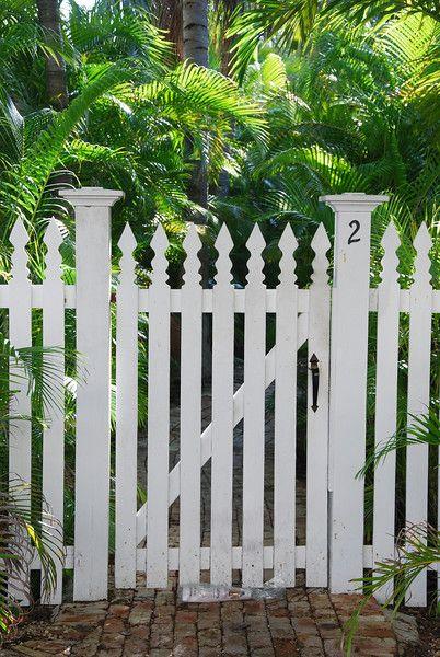 Fancy Backyard Fences : Fancy picket fence gate  Fences  Pinterest