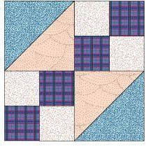 Buckeye Beauty - FREE Pattern - Hen Scratch Quilting
