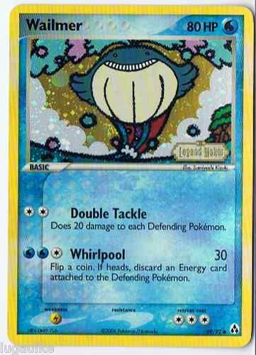 Pokemon Card EX Legend Maker Reverse Holo Common Wailmer 69/92 Wailmer Pokemon Card