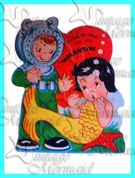 valentines day card retro