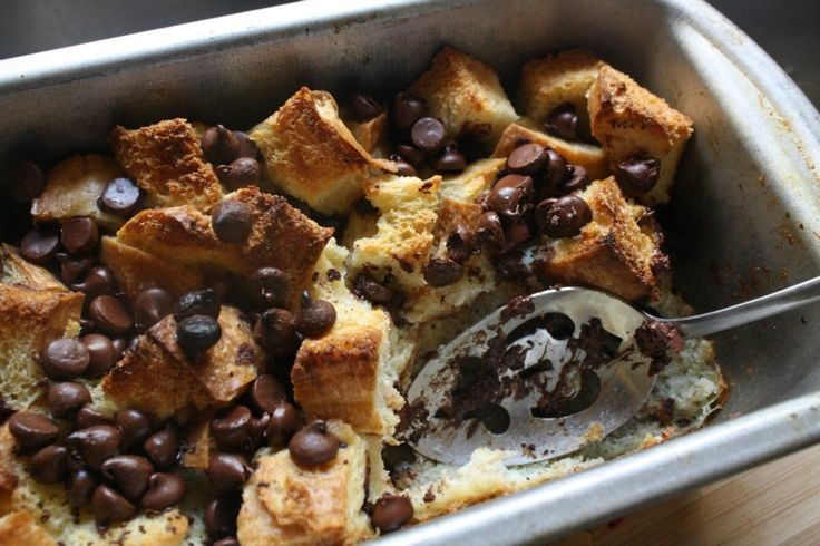 Chocolate Chip Bread Pudding | Recipe