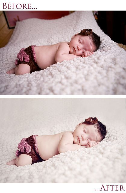 """This entire Flickr stream is nothing but """"how-to's"""" and tips for posing and editing newborn photos."""