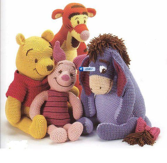 Winnie The Pooh Knitting Patterns Free : Winnie the Pooh and Friends Crochet PDF Pattern