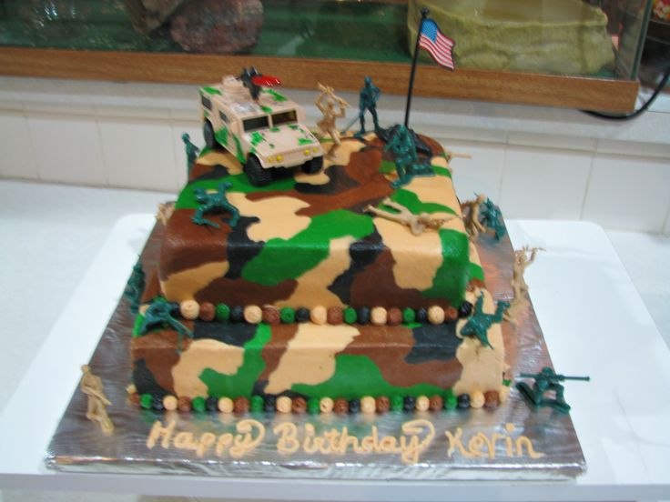 army birthday cake toppers
