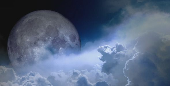 Clouds And The Moon  #videohive