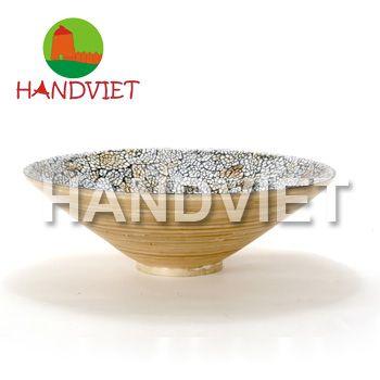 Lacquer eggshell bowl