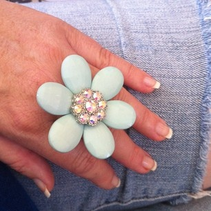 Jewelry of the Day~ F21 Flower Ring.