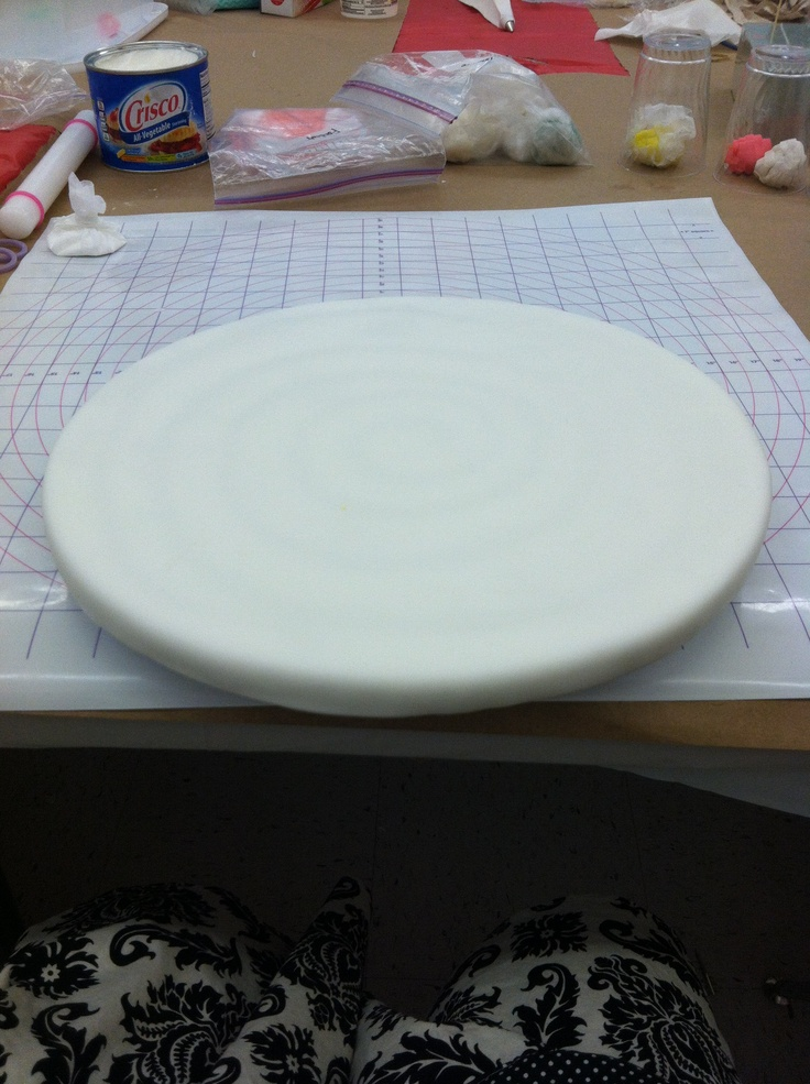 Fondant covered cake board #wiltoncontest Michaels San ...