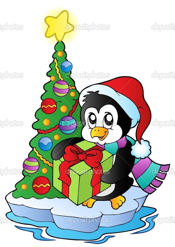 Christmas Penguin Cartoon | cute anime or chibi | Pinterest