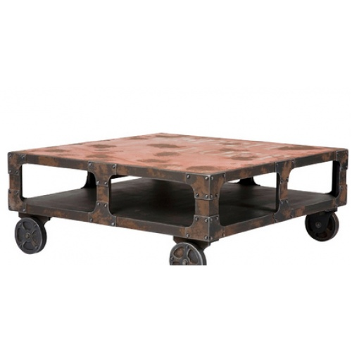 Industrial Coffee Table On Wheels Furniture Pinterest