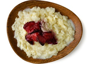 Creamy Rice Pudding with Broiled Plums | Indulge | Pinterest