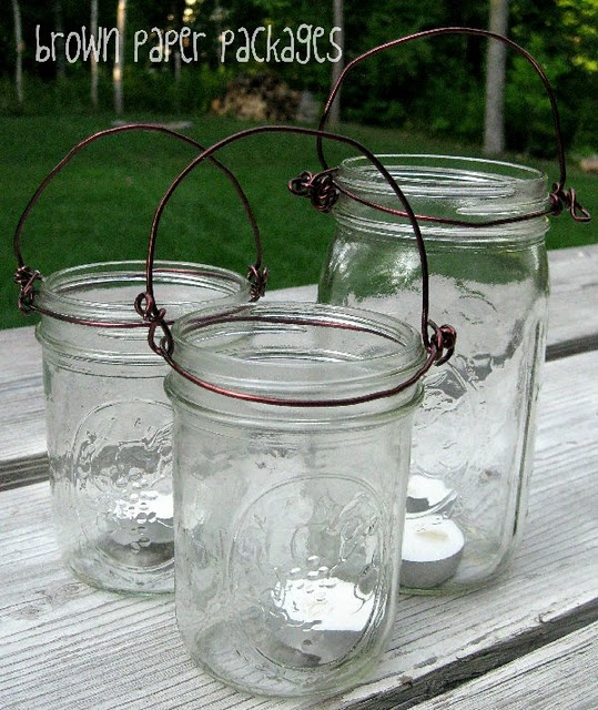 Hanging mason jars design pinterest for Hanging lights made from mason jars