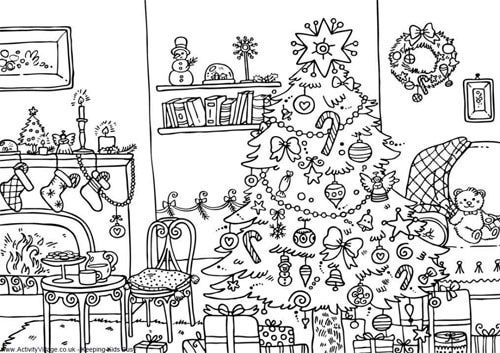 intricate coloring pages christmas - photo#17