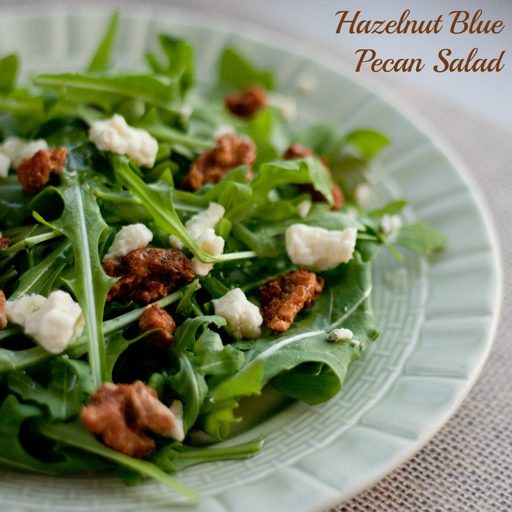 Hazelnut Blue Pecan Salad - a light salad with big flavor that pairs ...
