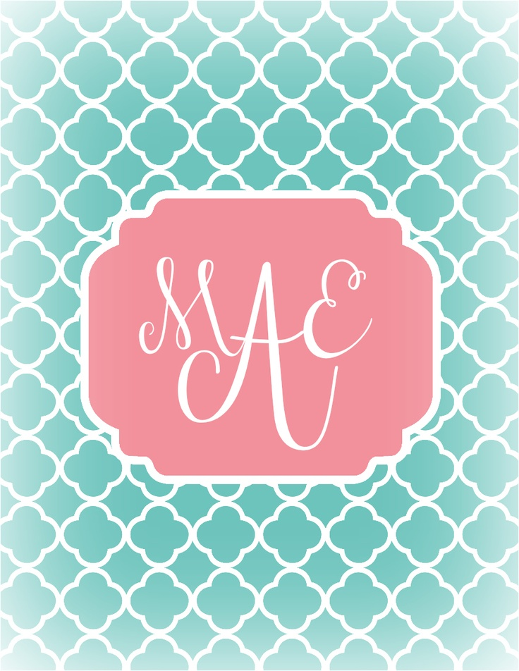 monogram iphone wallpaper app images