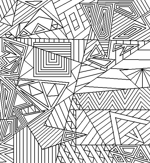 Abstract Shapes Printable Coloring