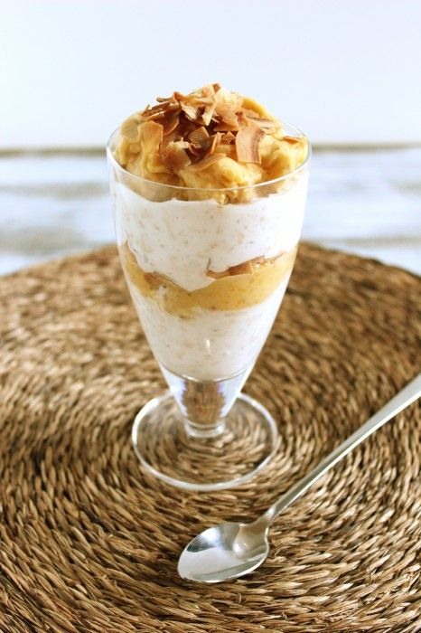 Overnight coconut and mango oats parfait | Food | Pinterest