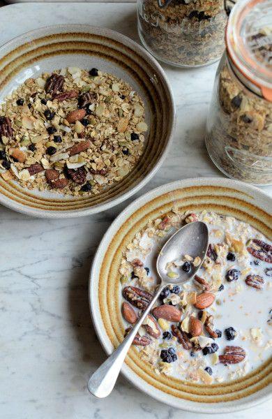 Maple, Almond & Pecan Granola with Wild Blueberries | Recipe