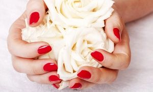 Groupon - Mid-Level Manicure, Deluxe Shellac Gel Manicure, or Mani