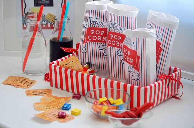 Per una festa de cinema: entrades, boses per crispetes, tot imprimible i idees, increible!!!