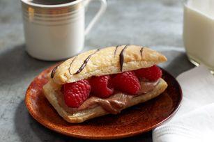 Chocolate-Raspberry Napoleons recipe | recipes | Pinterest
