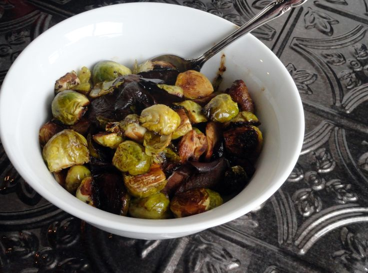 ... ! | Sherry Balsamic Caramelized Brussels Sprouts #recipe #justapinch