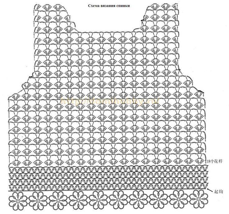 Самая простая схема вязания кофты крючком