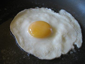 perfect fried egg - melt butter on low- add egg- cover - 5 mins