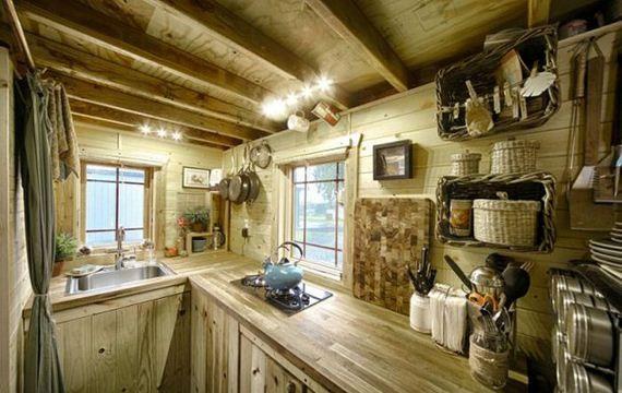 Interior Tiny House On Wheels Small Houses Pinterest