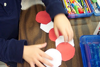 Candy Cane Craft with Circles