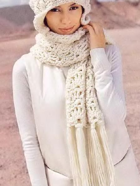 Вязание крючком шарф из толстой пряжи 95